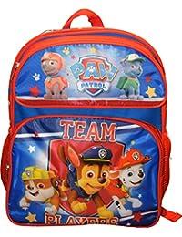 "Medium Backpack - Paw Patrol - Team Player Red/Blue 14"" School Bag 100543"