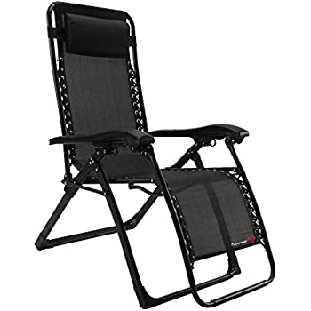 FLAMROSE UPGRADED Zero Gravity Lounge Chair With Headrest  Patio,Camping ,Beach,Deck