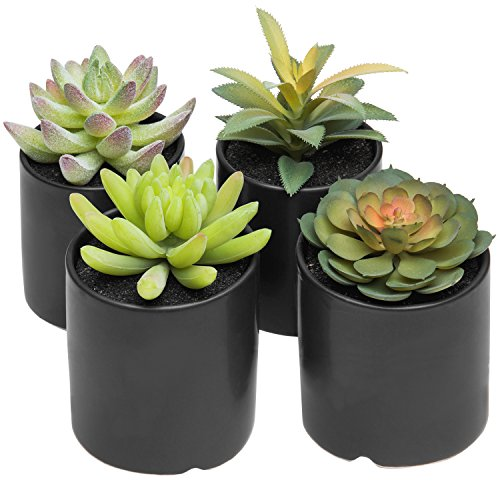 Amazon Com Mygift Set Of 4 Highly Realistic Green