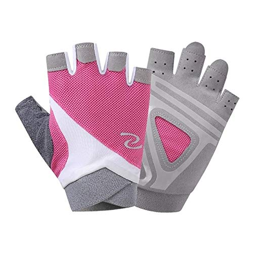 VDV Bicycle Accessories Unisex Anti-Skid Half Finger Gym Bike Gloves Sports Body Building Training Wrist Gloves Dumbbell Fitness Exercise Weightlifting Girl Bicycle Accessories-Pink (Batman Blister Kit)