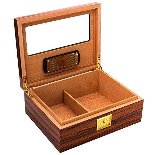 DDSS cigar box Cigar Box - Cigar Box Imported Cedar Wood Transparent Window humidor /-/ (Color : A) ()