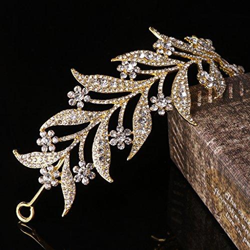 d17af50501a6 Thobu Leaf Style Crown Bride Wedding Tiara Princess Jewelry Women ...