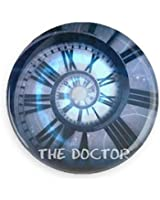 """Doctor Who Clock """"THE DOCTOR"""" Pin-back Button/ Magnet"""