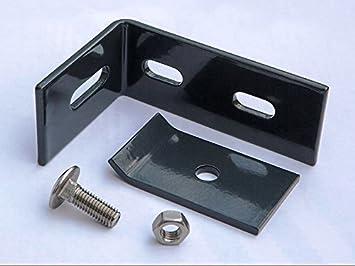 2x Zaunanschluss Wandanschlusswinkel für Doppelstabmattenzaun Gittermatten