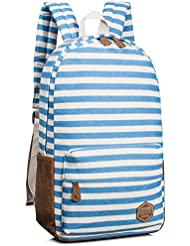 Backpack for girls, Casual Canvas Backpack School Bag Bookbags by Leaper