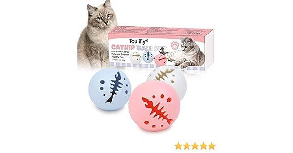 Juguetes Gatos Pelotas, Bola de Gato, Pelota de Gatos Movimiento Pelota de Ejercicio Gatos Bola, Juguete interactivo para gatos, bolas de juguete para gatos con bola de luz de flash: Amazon.es: Hogar