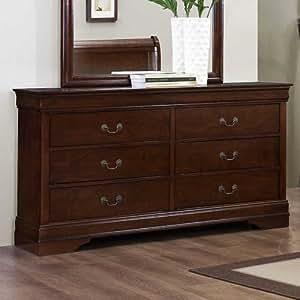 weston home hayworth 6 drawer dresser with mirror kitchen dining. Black Bedroom Furniture Sets. Home Design Ideas