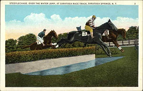 - Steeplechase, Over the Water Jump, Saratoga Race Track Saratoga Springs, New York Original Vintage Postcard