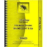 Galion 118 Grader Parts Manual