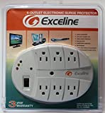 6-Outlet Electronic Surge Protector for Tv's, Audio Equipment, Video Games, Computers, Printers