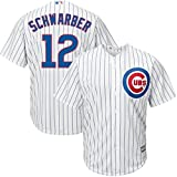 VF Chicago Cubs MLB Majestic Mens Cool Base Kyle Schwarber Pinstripe Jersey Big & Tall Sizes