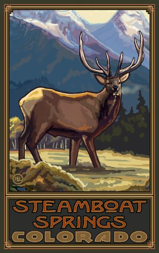 Northwest Art Mall Steamboat Springs Colorado Elk COEM Wall Art by Paul A. Lanquist, 11-Inch by - Mall Colorado Spring