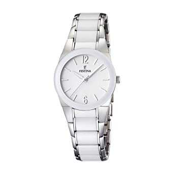 Festina F16534/1 - Reloj analógico de Pulsera para Mujer (Correa de Acero Inoxidable