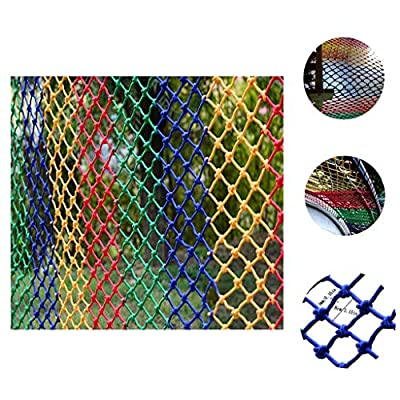 Safety Outdoor Railing Net Cat Net Stairs Child Safety Colors Kindergarten Decoration Net Protection Net Balcony Isolation Anti-drop Rope Net Nylon Hand Weaving Net Fence Net Multiple Sizes Available