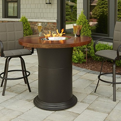 - Outdoor GreatRoom Company Colonial Fire Table, Pub Height, Artisan Marbleized Finish