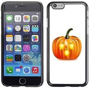 Apple (5.5 inches!!!) iPhone 6+ Plus / 6S+ Plus - Metal de aluminio y de plástico duro Caja del teléfono - Negro - Halloween O Pumpkin