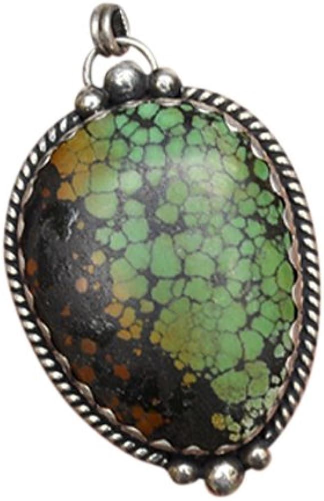 Colgante Tibetano de Plata 925 con Piedra Preciosa de Esmeralda - 100% Joya Artenal #101