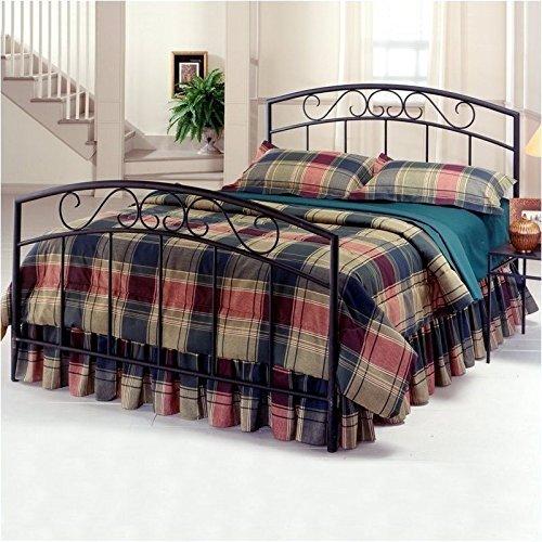 (Hillsdale Furniture 298BTWR Wendell Bed Set with Rails, Twin, Textured Black)