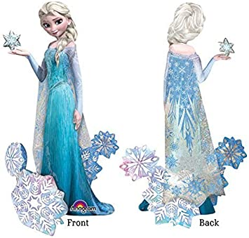 Hielo Elsa Reina de Disney Frozen Fiesta Airwalker Globo De La Hoja Decoración De Cumpleaños
