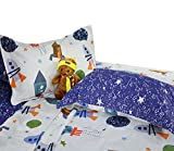 Brandream Kids Bed Pillow Shams Boys Pillowcases Standard Size Pillow Covers 100% Cotton 2Pcs