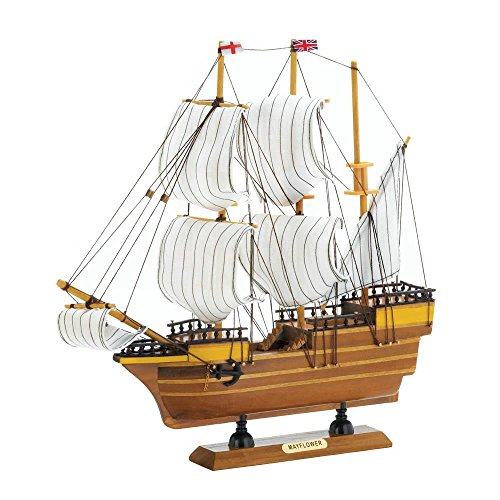 Decor and More Store Detailed Wooden Mayflower Ship Model Figure Collectible Figurine