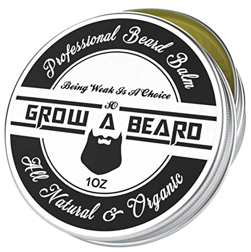 Beard Balm | Leave-in Conditioner & Softener for Men Care | Best Facial Hair & Mustache Grooming Wax | Great for Smooth & Moisturize | Natural & Organic, Sandalwood Scent with Argan & Jojoba Oils 1oz
