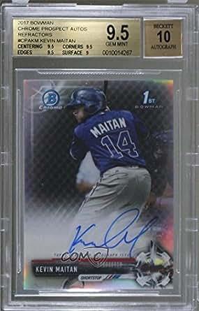 Kevin Maitan BGS GRADED 9.5 #256/499 (Baseball Card) 2017 Bowman - Chrome Prospect Autographs - Refractor #CPA-KM