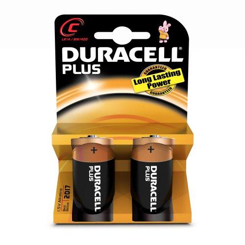 Duracell MN1400 CopperTop Alkaline Batteries, C, 72/CT