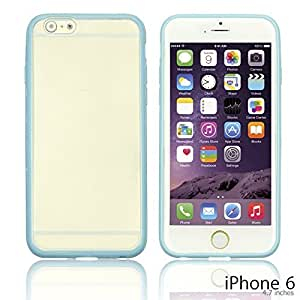 OnlineBestDigital - Colorful Gel Outlet with Hard Back Case for Apple iPhone 6 (4.7 inch)Smartphone - Light Blue with 3 Screen Protectors