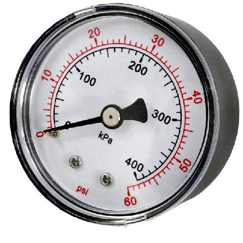 Pentair 33600-0023T 2-Inch Pressure Gauge Replacement for select Sta-Rite Pool and Spa Filters