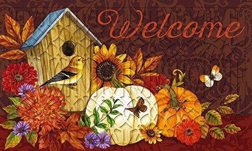 Evergreen Welcome Birdhouse Embossed Floor Mat, 18 x 30 (Evergreen Enterprises Birdhouse)