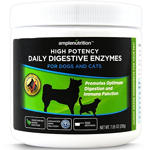 Digestive Enzymes For Pets Veterinarian Approved Contains 9 High Potency Enzymes 100 Vegetarian Based