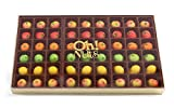Oh! Nuts® Marzipan Candy Fruits, Holiday Gourmet Marzipans Tray in an Elegant Gift Box, Unique Basket for Women & Men Alike, Send it For Thanksgiving, Christmas Gourmet Food Idea (54 Piece)