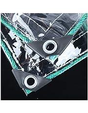 Transparant Zeildoek Regendicht, Op Zwaar Werk Berekend 0,8 Mm PVC Dekzeil Blad Filmdoek, Anti-veroudering for Tuinieren Camping Isolatie Transparant Zeil, Aanpasbaar (Color : Clear, Size : 2.4x3m)