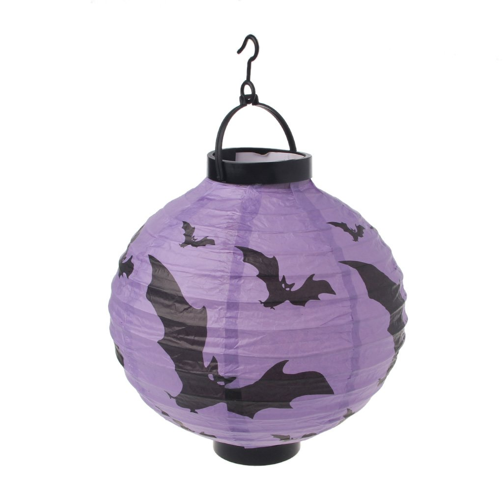 Sarora - Halloween Decoration Paper LED Lantern Hanging Skull Lamp Party Home Props (Ghost)