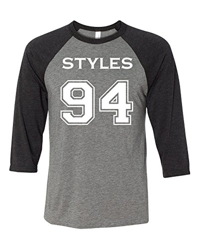 Adult One Direction Harry Styles 94 Baseball T-Shirt Medium