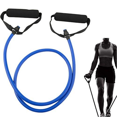 EQLEF® Resistance Band Cordons exercice avec pièce jointe porte Chest Expander couleur aléatoire