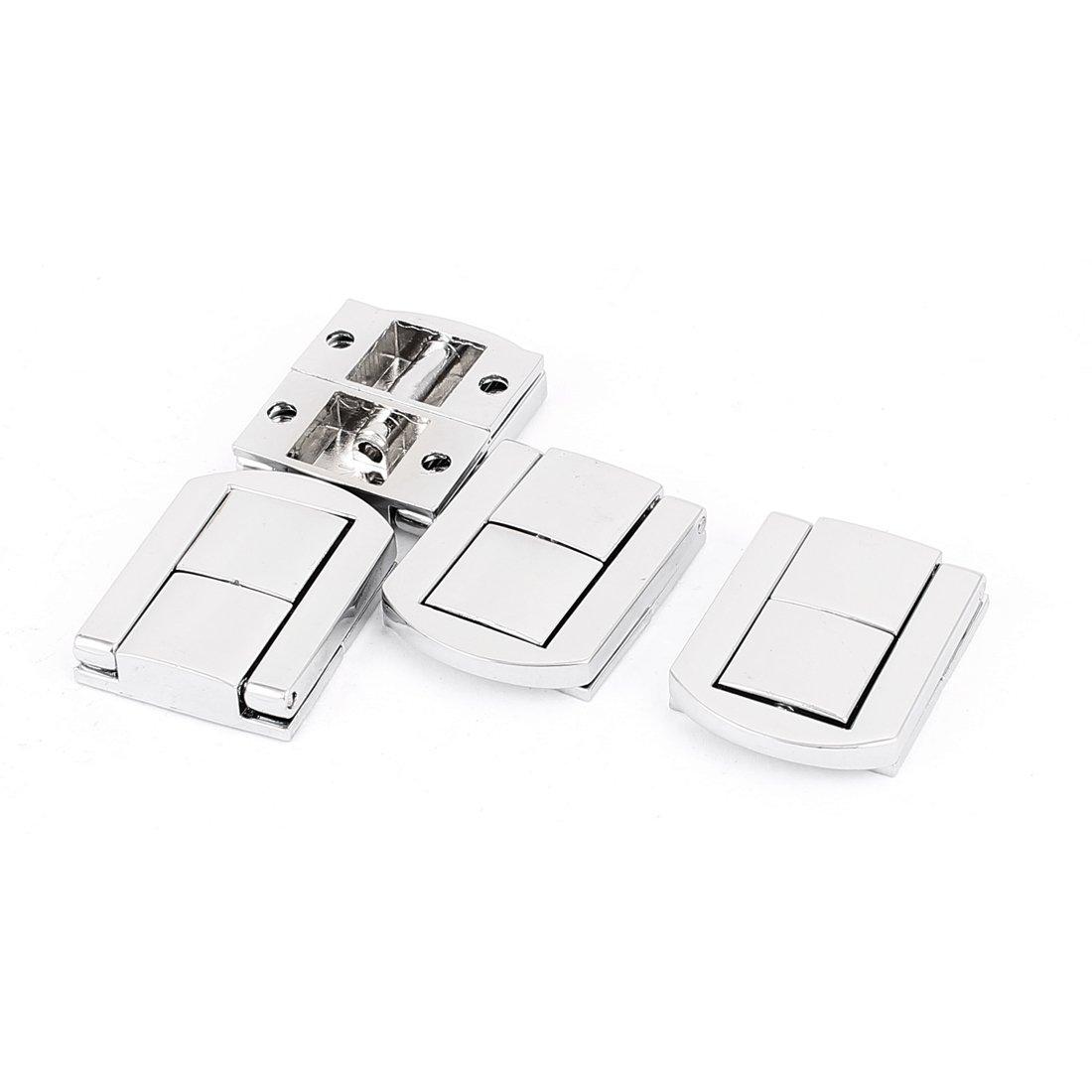 sourcingmap® Box Case Koffer 30mm x 25mm Verriegelung drawbolt Verschluss Silber Ton 4 SYNCTEA031164