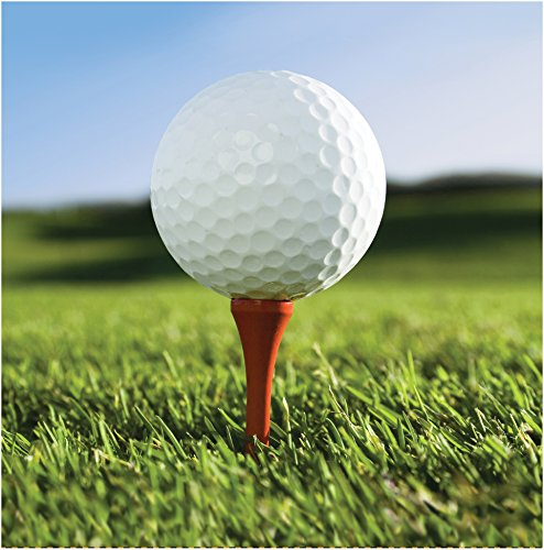 Golf Cocktail Napkins (Creative Converting 18 Count Sports Fanatic Lunch Napkins, White/Green)