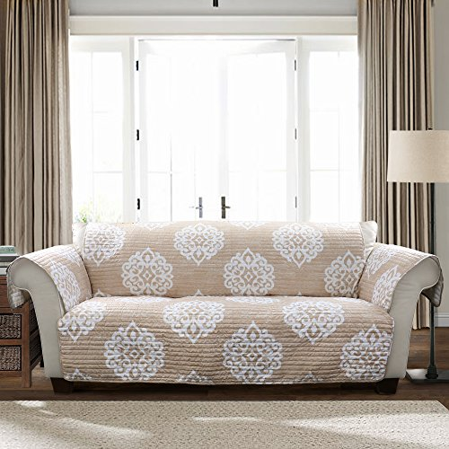 Lush Decor Sophie Sofa Furniture Protector, Taupe