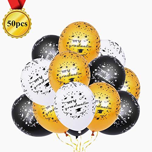 - HorkoTun 50PCS Graduation Balloons, 12