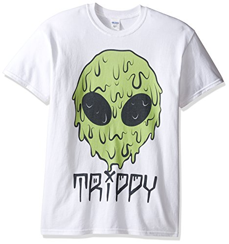 Alien White T-shirt (Freeze Men's Trippy Alien T-Shirt, White, Medium)
