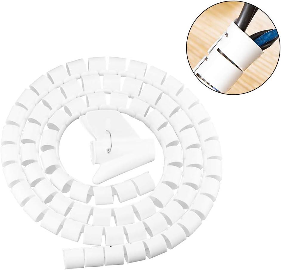 16mmx1.5m Mingtongli Draht-Speicher Rohrbisssicher Kabel-Organisator Spiralschutz Kabel-Wind Wei/ß Clamp 16mm