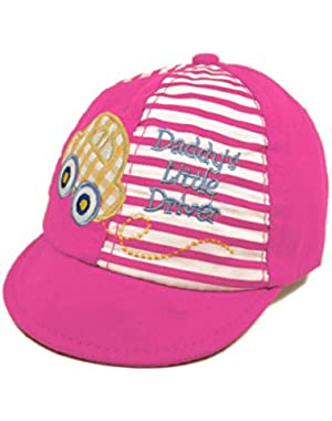 Infant Toddler Unisex Baby's Daddy's Little Driver Cotton Canvas Cap - Diff Colors