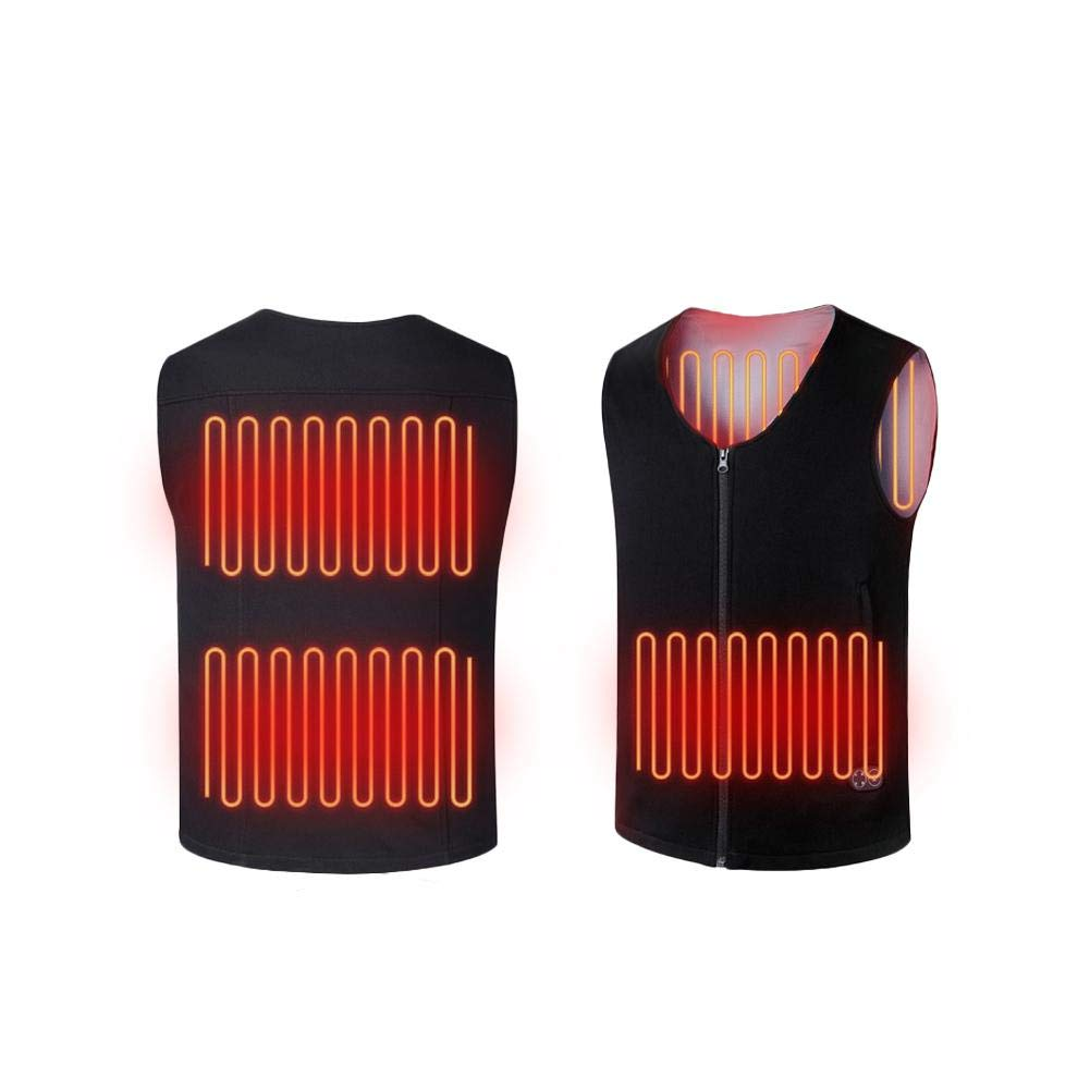 Winter Heating Vest, USB Charging Electric Heated Body Warmer Down Vest Rechargeable Thermal Waistcoat with 3 Level Adjustable Heating Settings Ya-tube