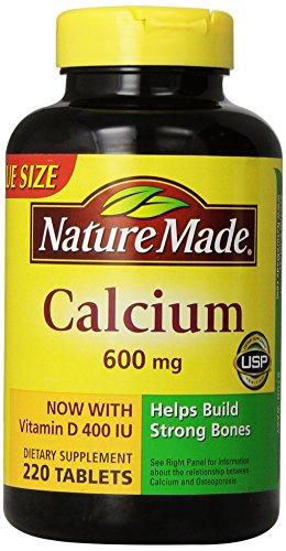 Nature Made calcium 600 mg avec vitamine D3, la valeur Taille, 220-Count