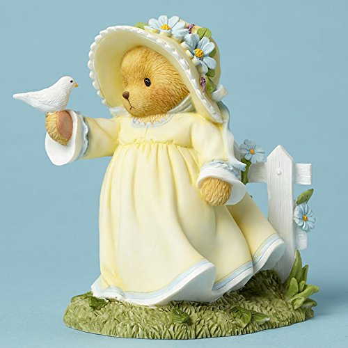 Enesco Cherished Teddies Collection Figurine Holding Bird/Fence 4051041