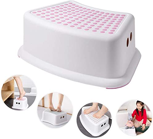 Hamkaw sgabello per bambini con superficie morbida con tondini antiscivolo e base antiscivolo ideale per imparare a usare il vasino per bagno camera da letto stanza dei giocattoli