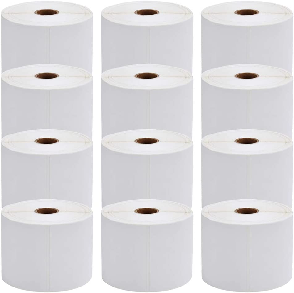 MFLABEL 12 Rolls of 450 Counts, 4x6 Shipping Labels, Mailing Postage Labels for Zebra 2844 ZP-450 ZP-500 ZP-505