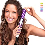 SexyBeauty Professional Portable Hair Salon Spiral Curl Ceramic Curling Iron Hair Curler Waver Maker (purple)